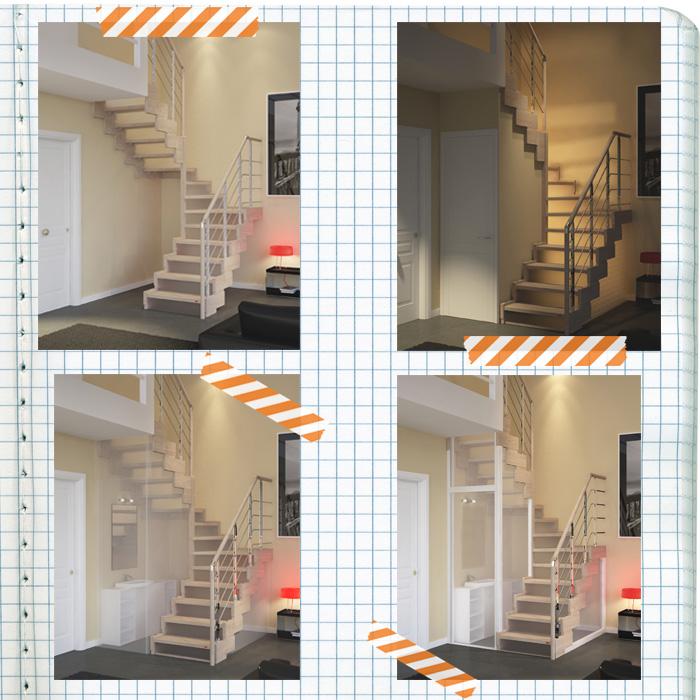 Ambienti mini ecco le scale salvaspazio che ti regalano 2 - Rintal scale forli ...