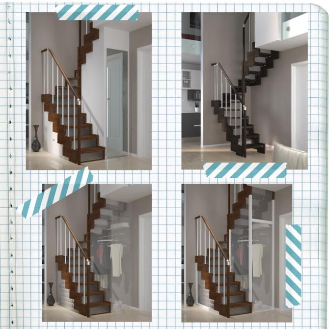 Ambienti mini ecco le scale salvaspazio che ti regalano 2 - Soluzioni per scale interne ...